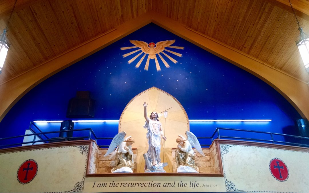 Statuary: Immaculate Conception Church in Forest City, N.C.