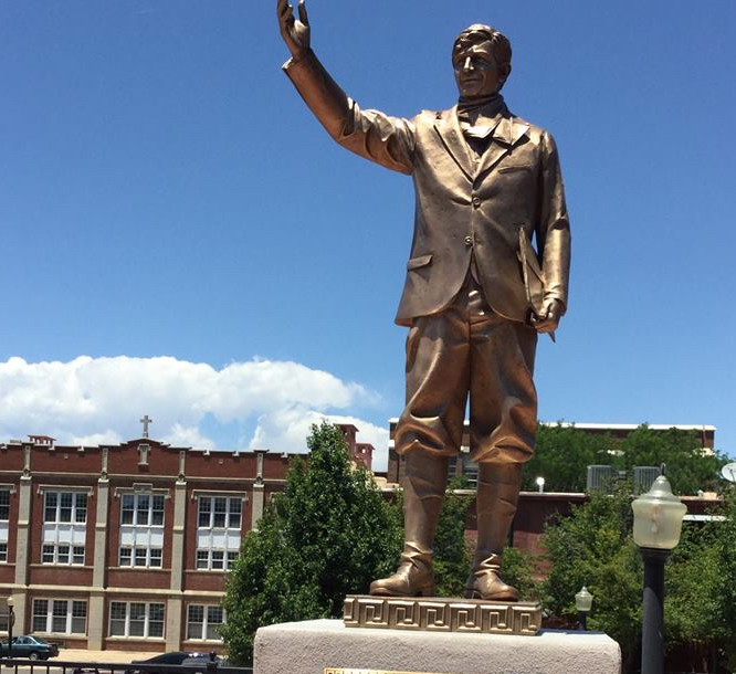 Original bronze statue of labor leader Louis Tikas dedicated in Colorado