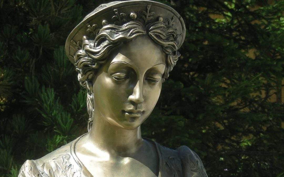 Original bronze statue of St. Cecilia